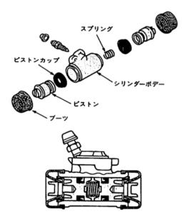 2-piston wheel cylinder